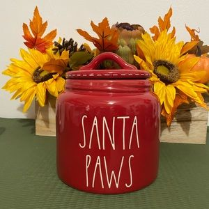 Rae dunnSanta paw canister & ceramic paw ornament